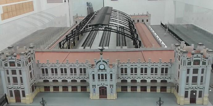 Maqueta Estación Norte. Miguel Légor.