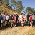 Medio Ambiente, Hidraqua y los festeros riegan 700 árboles del Monte de San Miguel ante las altas temperaturas.
