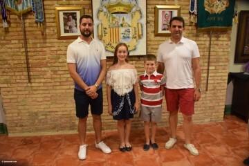 Mireia Cuñat, y Presidente Infantil Merienda con el artista infantil de la falla Plaza de la Mercé (146)