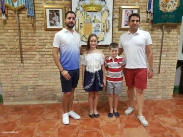 Mireia Cuñat, y Presidente Infantil Merienda con el artista infantil de la falla Plaza de la Mercé (152)