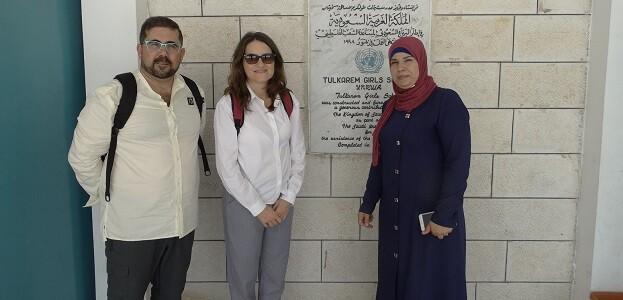 Oltra en su visita a Cisjordania.