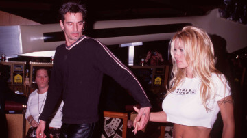"""2/15/98 MGM Grand Las Vegas, NV Tommy Lee and Pamela Anderson at the opening of """"Studio 54"""""""