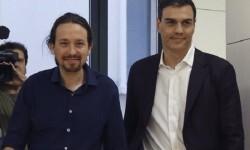 Pedro Sánchez y Pablo Iglesias inician hoy su ronda de negociaciones.