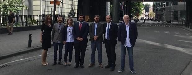 Representantes municipales de l'Horta Nord en la oficina de la Fundación Comunitat Valenciana Región Europea.
