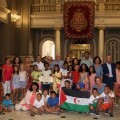 Ribó anuncia el hermanamiento con uuna ciudad del sáhara en la recepción de los niños y niñas saharauis del programa 'Vacances en pau'.