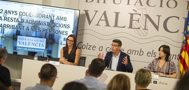 Rueda prensa de la Diputación sobre el balance 2 años de gestión.