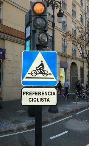 Señal para ciclistas.