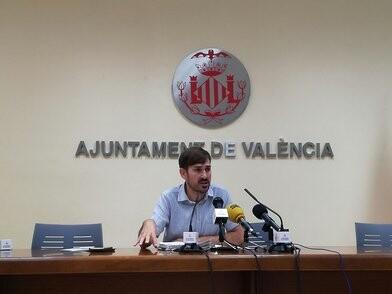 Sergi Campillo, durante la rueda de prensa tras la Junta de Gobierno Local.