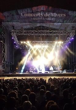 Un concierto en Viveros.