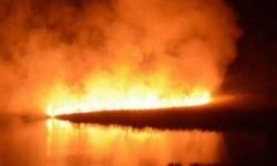 Imagen del incendio, ya sofocado, que avanzó hacia el Estany de San Llorenç.METEOCULLERA / A.CORTÉS