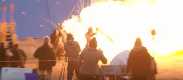 Así es como se grabó la primera gran batalla con dragones en Games of Thrones (10)