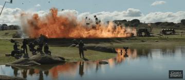 Así es como se grabó la primera gran batalla con dragones en Games of Thrones (9)