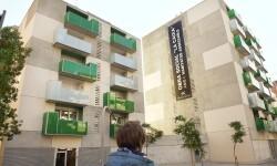 Promoció d'Habitatge Assequible, al barri de Gràcia. Edifici: exterior *** Local Caption *** CESSIÓ DE DRETS DE PROPIETAT INTEL·LECTUAL de Juan Ventura. Cessió universal i indefinida .............................................................................................. CESSIÓ DE DRETS D'IMATGE. DIVULGACIÓ: qualsevol mitjà (TV, premsa, internet, mitjans exteriors, material promocional...) VIGÈNCIA: indefinida; CONTEXT: difusió activitats Obra Social La Caixa i Fundació La Caixa