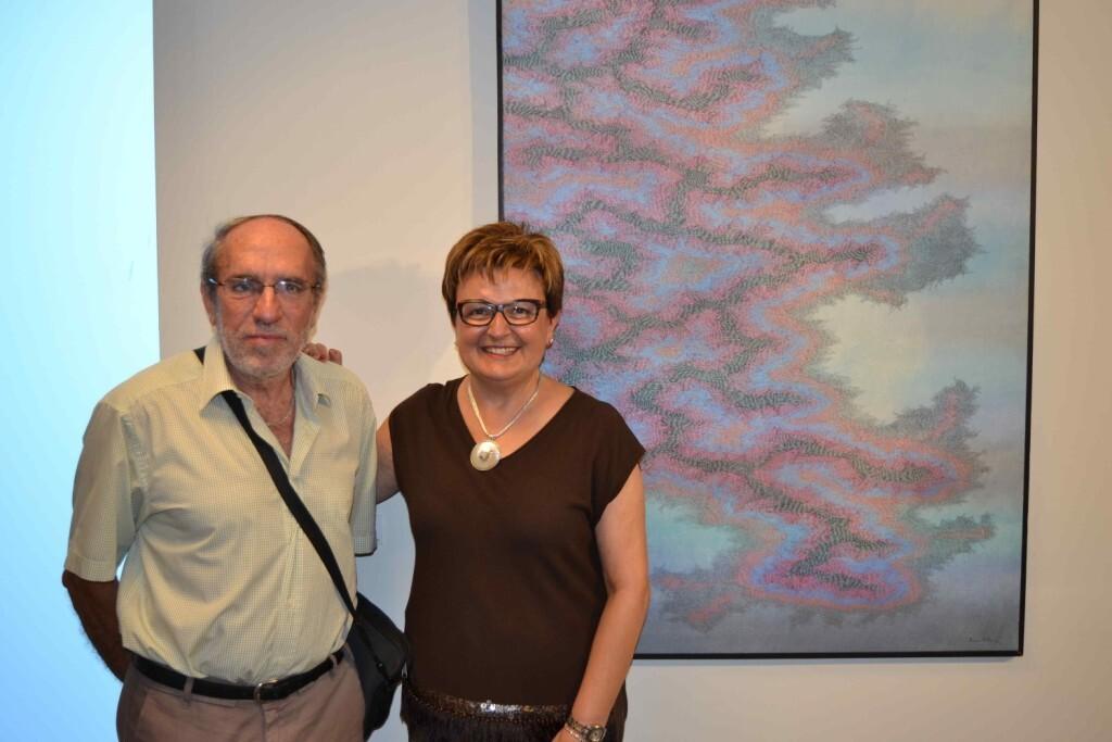 El artista Joaquín Ferrer y la comisaria Rosario Falcó