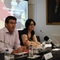 El presidente de la Diputación, Jorge Rodríguez, junto a la diputada Rosa Pérez Garijo._8_0
