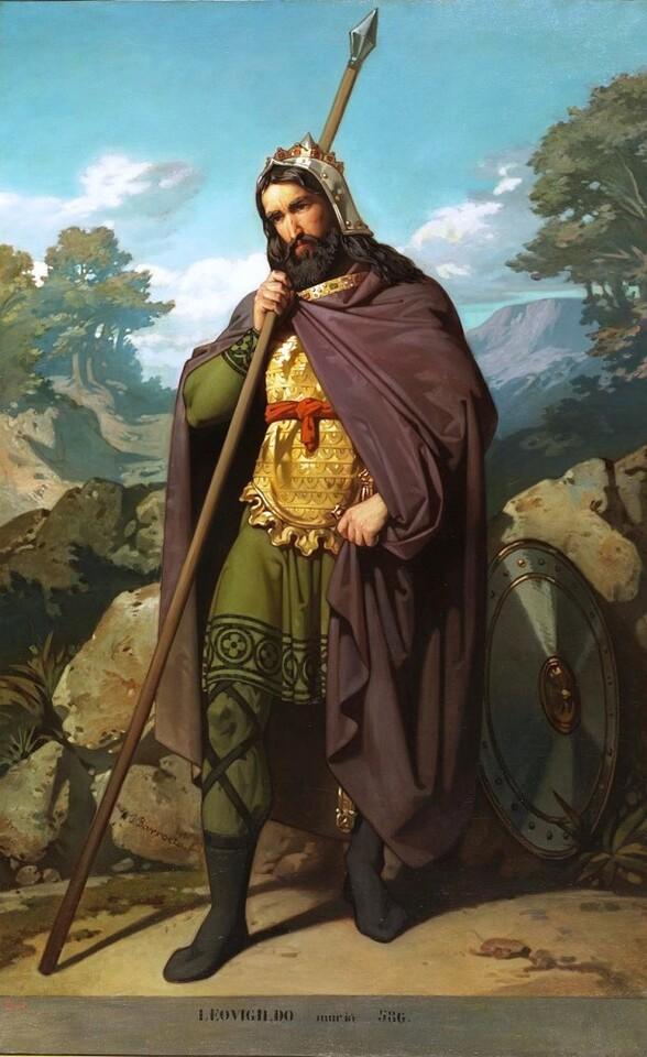 Retrato imaginario del rey Leovigildo, de Juan de Barroeta. Ca. 1854-1855. (Museo del Prado).