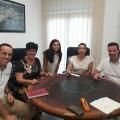 Immaculada Cerdà reunida amb els representants municipals de Piles