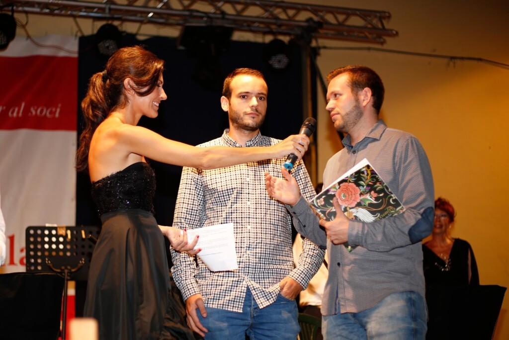 Laura Grande con Javier Marco y Pablo Martínez