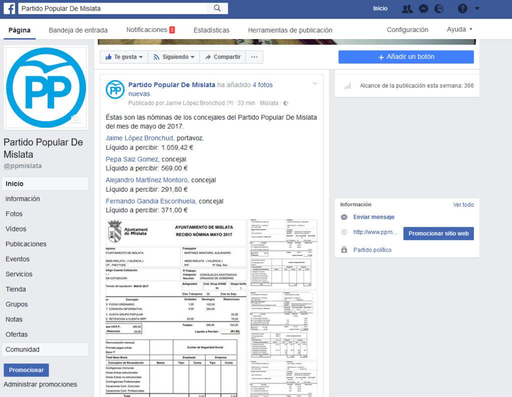 facebook nominas