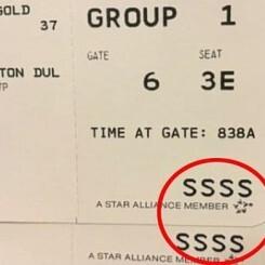 """La sigla """"SSSS"""" el misterioso código que nunca querrás ver en tu tarjeta de embarque"""