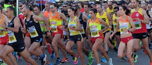 Algunos corredores de la anterior carrera de la Diputación.