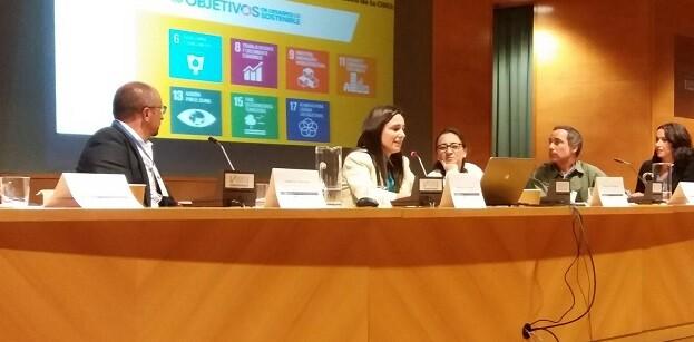Amelia Navarro, Directora de Desarrollo Sostenible de la compañía, ha presentado la gestión del Parque Urbano Inundable la Marjal y el programa de voluntariado corporativo BiObserva.