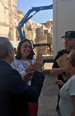 Anaïs Menguzzato, visitó el nuevo retén.