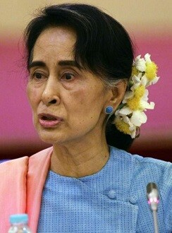 Aung Sann Suu Kyi.