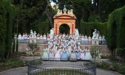 Candidates a Fallera Major Infantil de València 2018, del día de hui als Jardins de Monforte (1)