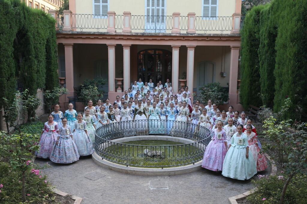 Candidates a Fallera Major Infantil de València 2018, del día de hui als Jardins de Monforte (3)
