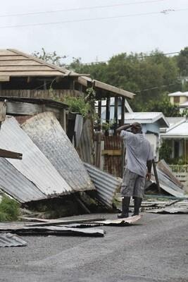 El devastador paso del huracán por el caribe.