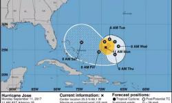 El nuevo pronóstico prevé un giro dramático del huracán José en dirección a la costa este de los EEUU Infobae