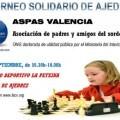 I Torneo solidario de Ajedrez Aspas Valencia.