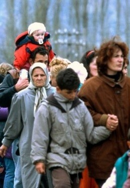 Imagen de archivo de refugiados llegados a Europa.