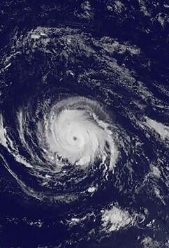 Imagen del huracán.