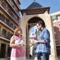 Isabel Bonig con Jaume Bronchud en la Creu de Mislata