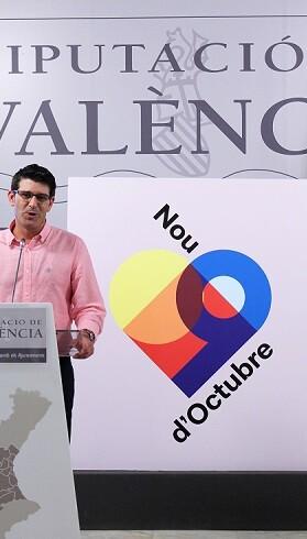 Jorgue Rodríguez presenta la imagen de la Corporación para el 9 d'Octubre.