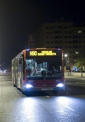 Línea nocturna. (EMT) autobús.