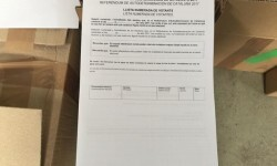 La Guardia Civil interviene cerca de 10 millones de papeletas de votación.