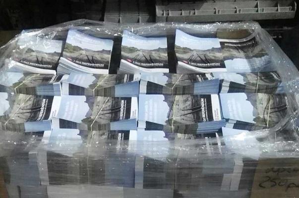 La Guardia Civil requisa 1,3 millones de carteles del referéndum catalán del 1-0.