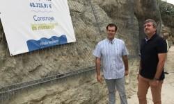 L'alcalde de Chulilla, Vicente Gonzalo Polo, amb el diputat Josep Bort durant la visita als treballs d'estabilització_01