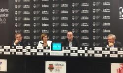 Maite Girau presenta el Trofeo Ciutat de València de Baloncesto.