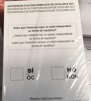 Papeleta de votación.