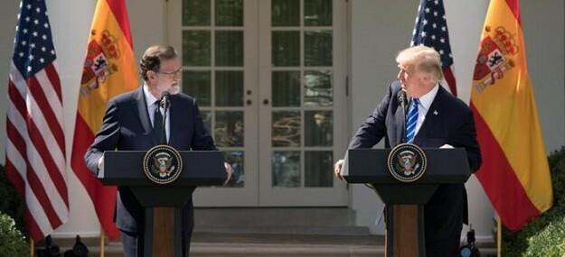 Rajoy y Trump.