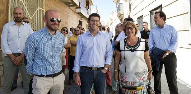 Rodríguez visita las obras en Picassent.