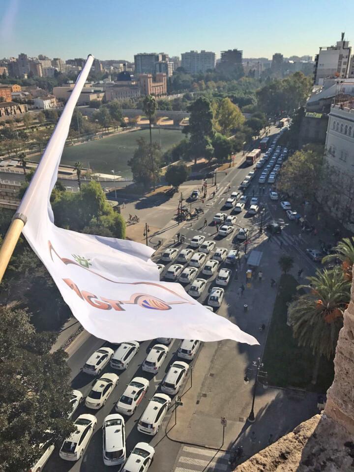 1. Manifestacion taxistas contra ley taxi