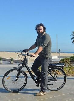 Bici con energía solar.