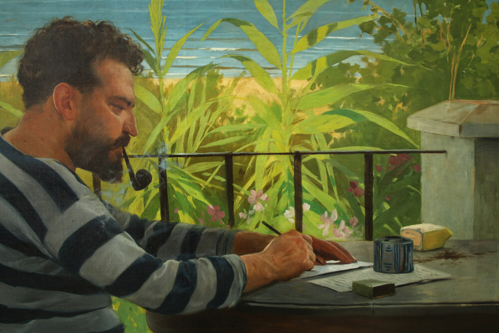 Detalle retrato Vicente Blasco Ibanyez