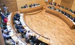 El pleno de la Diputación muestra el rechazo de todos los grupos a los actos violentos del 9 d'Octubre.