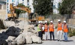 Empiezan las obras de canalización del barranco de la Cala de Finestrat.